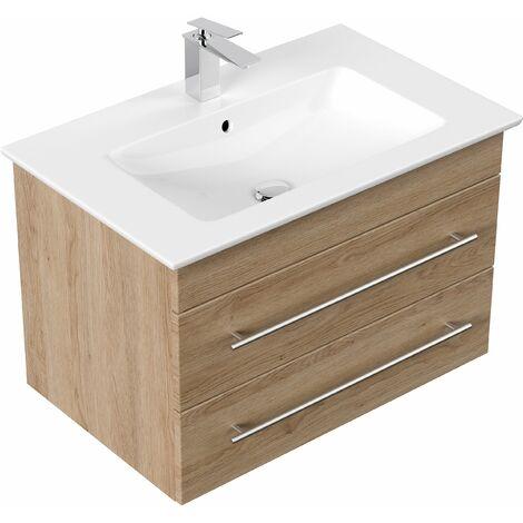 muebles de baño Villeroy & Boch Venticello lavabo 80 cm Roble claro