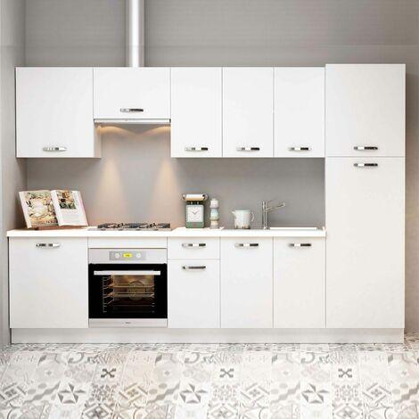 Muebles de cocina MARTA en color blanco. Con despensero