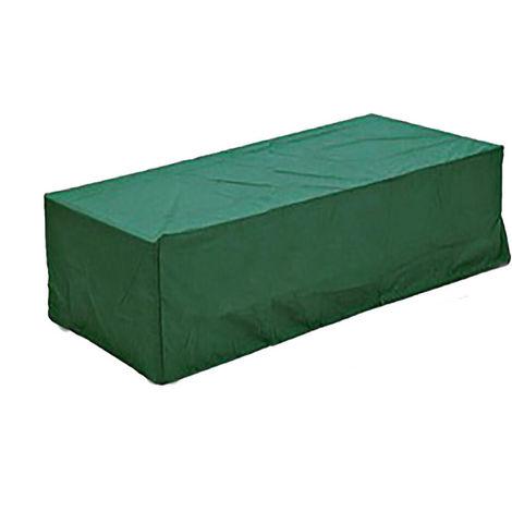 Muebles de jardín a prueba de agua Cubiertas verdes Rectángulo BBQ Rattan Table Cube Hasaki