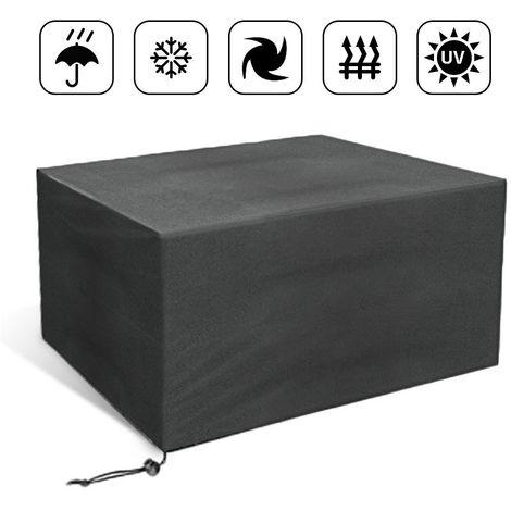 Muebles de jardín Cubo Cubra Asiento Protector contra el polvo de lluvia Cubierta de lona 110*110*65cm