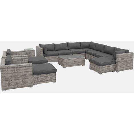 Muebles de jardin, Rattan sintetico, Varios Grises, 12 14 plazas, | Tripoli
