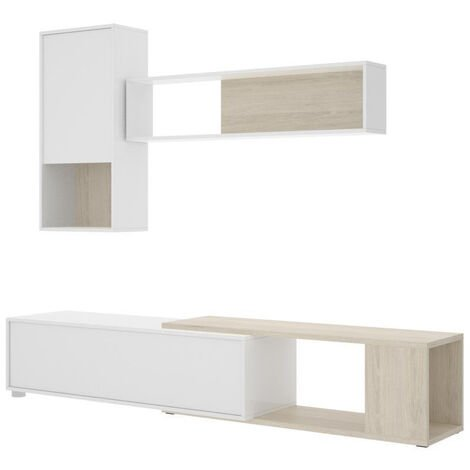 Muebles Salón - Mueble Salón Flexible Blanco Madera Lusin