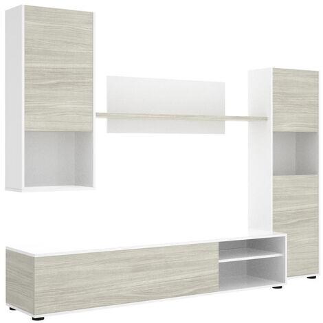 Muebles Salón - Mueble Salón Modular Blanco Gris Ineon