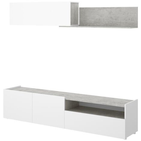Muebles TV - Mueble TV Blanco Cemento Itice