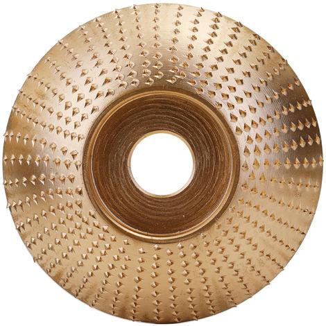 Muela de angulo de madera para carpinteria, herramienta rotativa de lijado y tallado