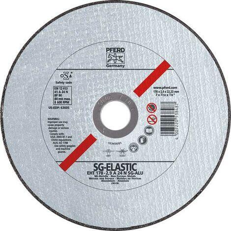 Muela de trocear SG-ELASTIC-ALU para el mecanización del aluminio, Ø x Espesor : 115 x 1,0 mm, Modelo recto, velocidad máx. 13300 tr/mn