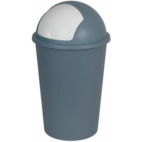 Mülleimer 50L mit Schiebedeckel Abfalleimer Müllbehälter Papierkorb Müllsammler