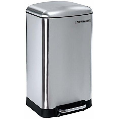 Mülleimer Abfallbehälter für Küche 30L Treteimer Edelstahl mit Pedal LTB01L
