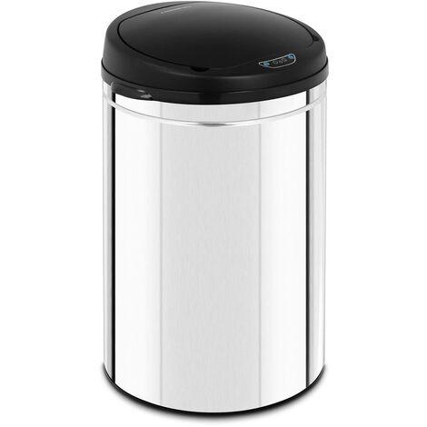 Mülleimer mit Sensor automatischer Abfalleimer 30 L Inneneimer Edelstahl