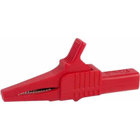 Mueller BU-65-2 Large Jaw Safety Alligator Clip Red