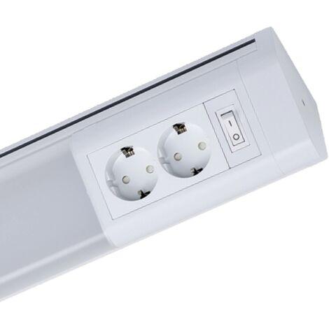 Müller Licht Luminaire LED pour sous-meuble en blanc avec 2 prises de courant, 762mm