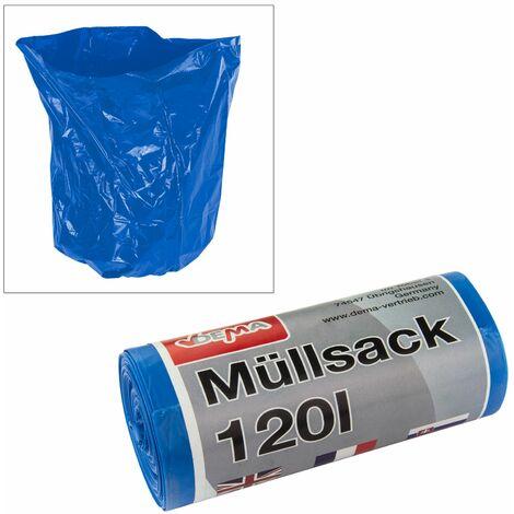 Müllsack 120ltr. 70x110 cm 10er Rolle blau Müllsack Mülltüte Mülleimer Abfallsack Abfalltüte