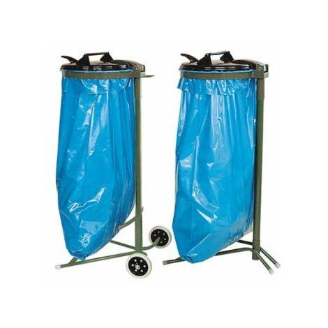 Müllsackständer | mit Rädern | Beutelvolumen 120 l | Certeo
