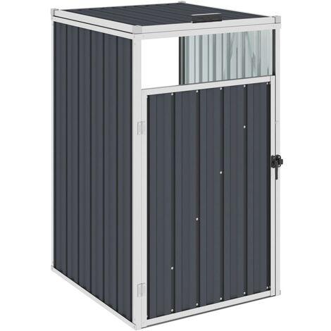 Mülltonnenbox Anthrazit 72×81×121 cm Stahl