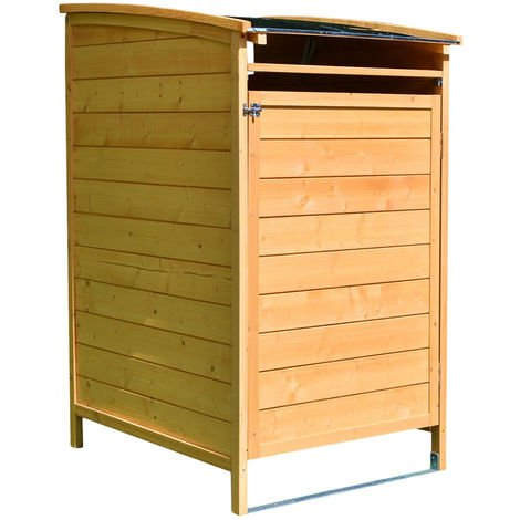 Mülltonnenbox braun Mülltonnenverkleidung Mülltonne 240L Mülltonnenhaus Gartenbox Gerätebox Gerätehaus Holz Anbau Gerätehaus
