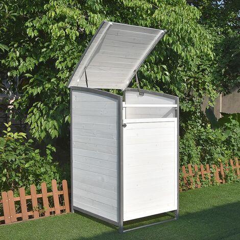 Mülltonnenbox - Erweiterungsbox - weiß/grau
