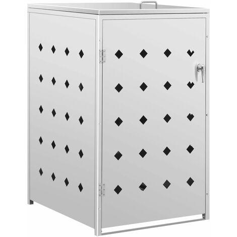 Mülltonnenbox für 1 Tonne 240 L Edelstahl