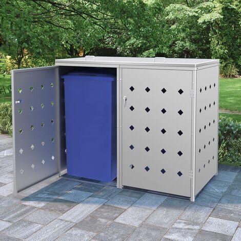 Mülltonnenbox für 2 Tonnen 240 L Edelstahl