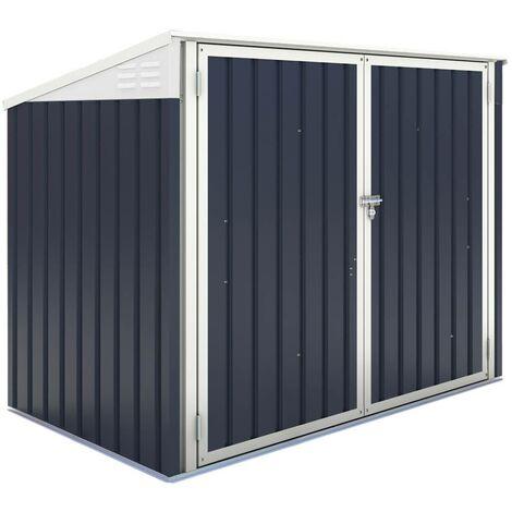 Mülltonnenbox Mülltonnenverkleidung New York - 100 x 172 x 131 cm - Grau