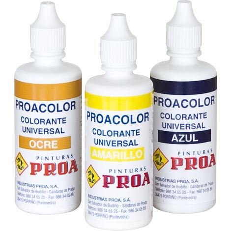 Muestrarios de pinturas, Colorantes para pintura