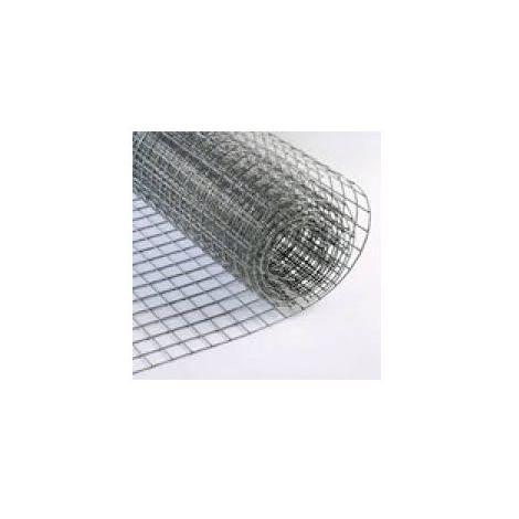 MUGAR Malla electrosoldada galvanizada 25 mm de luz por 25 metros