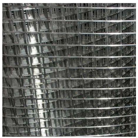 MUGAR Malla electrosoldada galvanizada 6x6 mm de luz por 25 metros de longitud