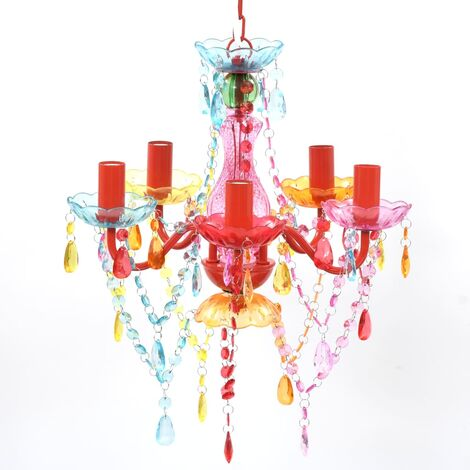 MULTI COLOUR crystal light 5 bulb