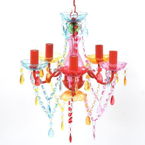 MULTI COLOUR crystal light 5 bulb VD08156