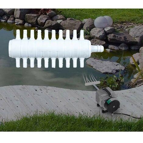 Multi Diviseur Plastique 20 Sorties Pour Aérateur & Pompe à Air Bassin & Aquarium - Blanc