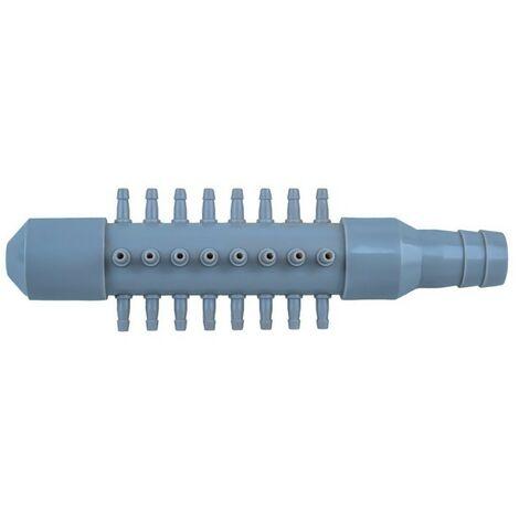 Multi Diviseur Plastique 24 Sorties Pour Aérateur & Pompe à Air Bassin & Aquarium - Gris