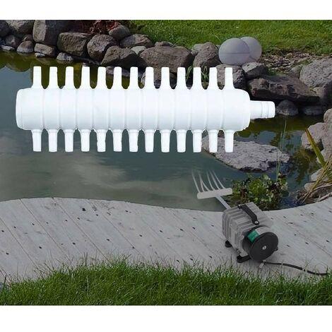 Multi Diviseur Plastique 26 Sorties Pour Aérateur & Pompe à Air Bassin & Aquarium - Blanc