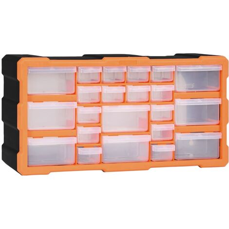 Multi-drawer Organiser with 22 Drawers 49x16x25.5 cm