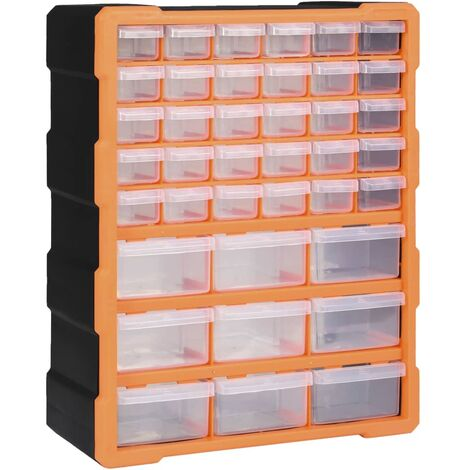 Multi-drawer Organiser with 39 Drawers 38x16x47 cm