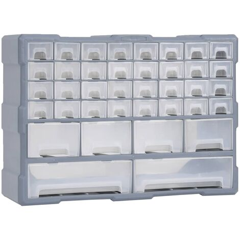 Multi-drawer Organiser with 40 Drawers 52x16x37.5 cm