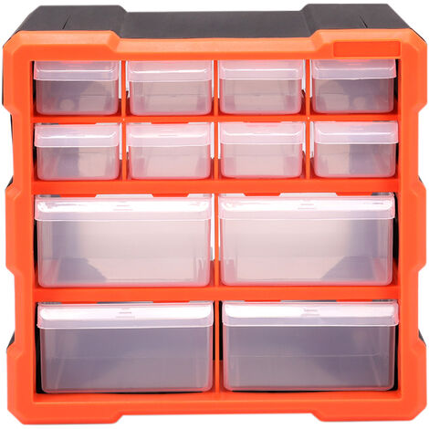 Multi Drawer Parts Storage Cabinet Unit Organiser Home Garage Tool Box
