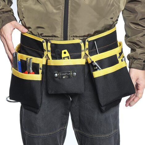 Multi-fonctionnel électricien outils sac taille poche ceinture support de stockage organisateur