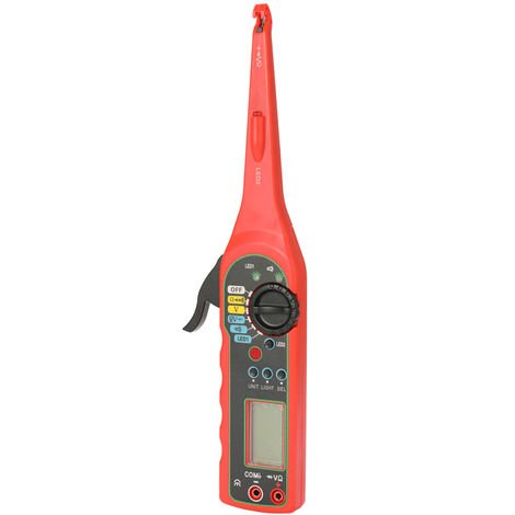 Multi-Fonctions Circuit Auto Lampe Reparation Outil Testeur De Tension Multimetre Diagnostics Car Outils, Rouge