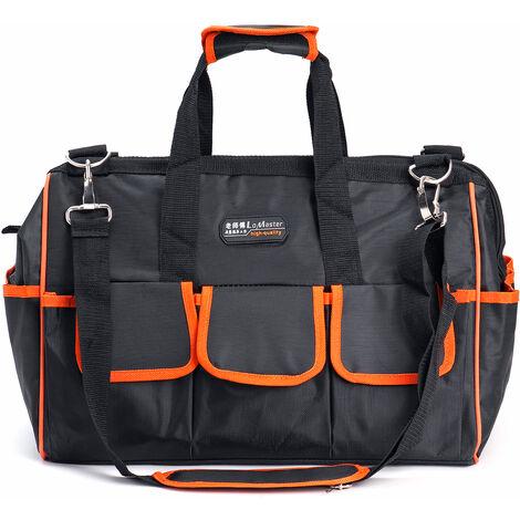 Multi-function Canvas Waterproof Storage Hand Tool Bag Portable Waterproof Electrician Bag 15 inch