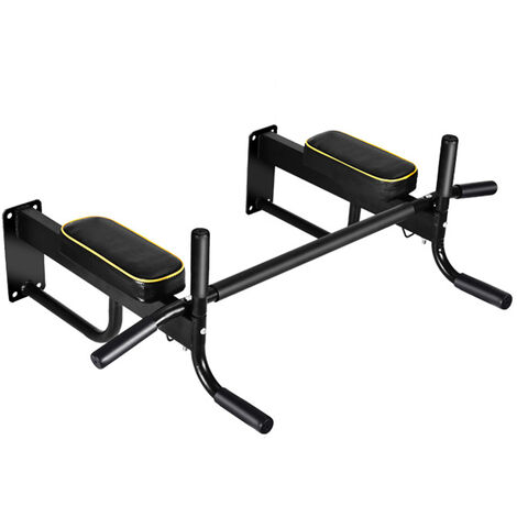 Multi-function Pull Up Bar Chin Gym Doorway Muscle Fitness Strength Training 99X67X22cm Black