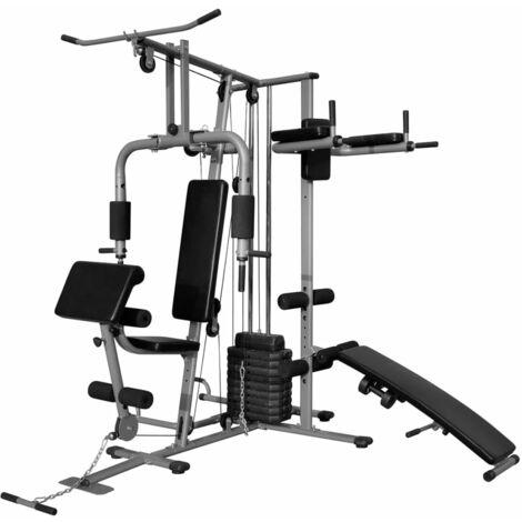 Multi-functional Home Gym 65 kg - Black