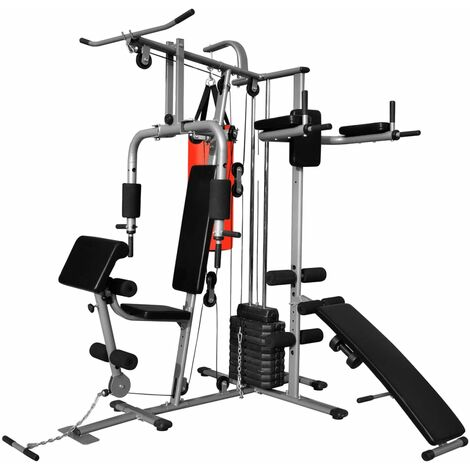 Multi-functional Home Gym with 1 Boxing Bag 65 kg - Black