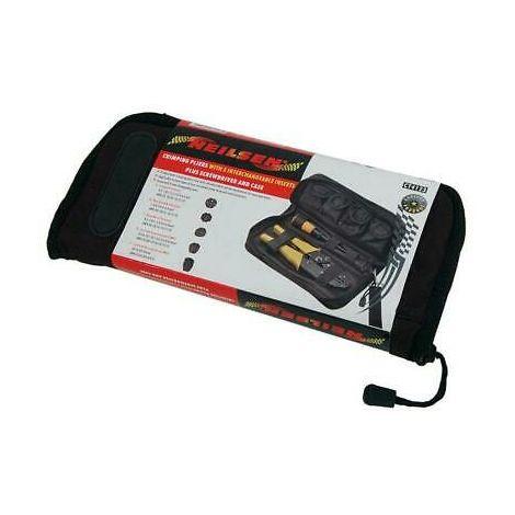 Multi Head Professional Crimping Pliers, Adjustable Ratchet