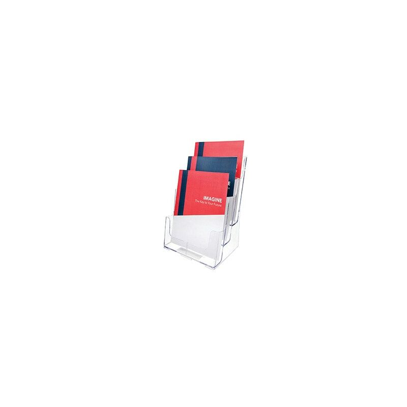 Image of Literature Holder A4 3-Tier Clear 77301 - Deflect-o