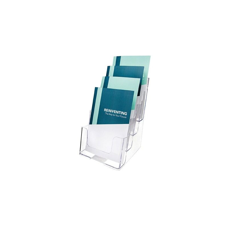 Image of Literature Holder A5 4-Tier Clear 77901 - Deflect-o