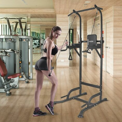 Multi Pull Up Adjustable Power Tower Workout Station