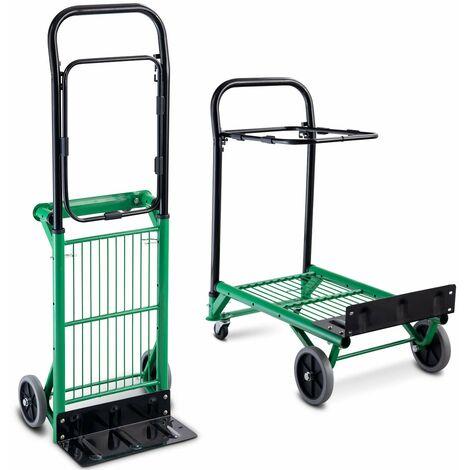 Multi-Purpose Hand Truck Portable Sack Cart Trolley Folding Platform Garden UK