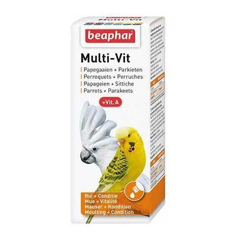 Multi-vitamines, perruches et perroquets - 50 ml