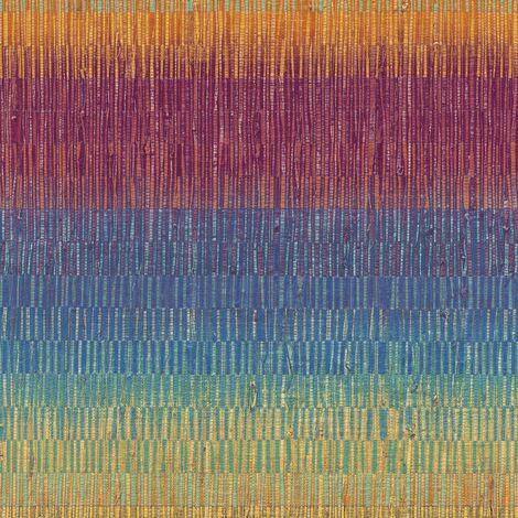 Multicoloured Retro Wallpaper Grandeco Orange Yellow Blue Green Textured Vinyl