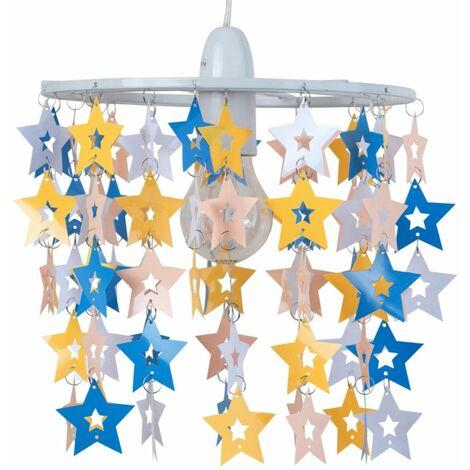 Multicoloured Star Design Easy Fit Light Shade