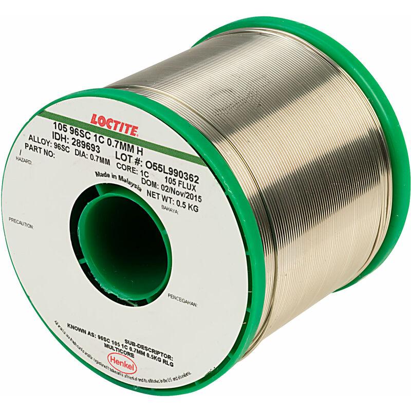 Image of Loctite 289693 105 96SC 1C Lead Free Solder Wire 0.7mm 0.5kg - Multicore